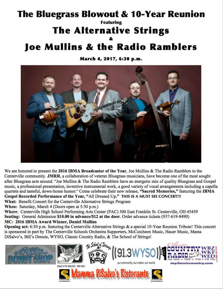 Joe Mullins and The Radio Ramblers @ Bluegrass Blowout with Alternative Strings - Centerville, OH