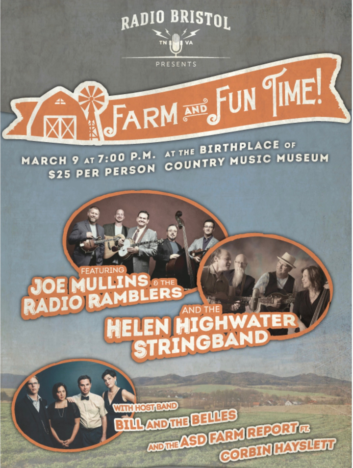 Joe Mullins and The Radio Ramblers @ Farm and Fun Time - Birthplace of Country Music Museum - Bristol, TN