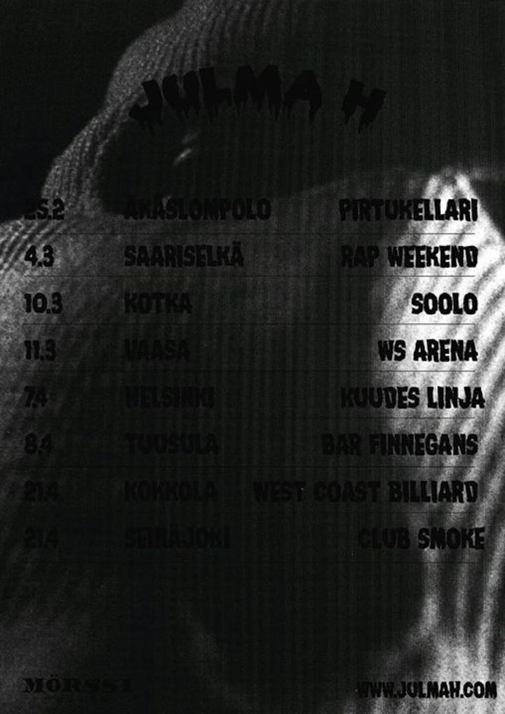 Julma Henri Tour Dates