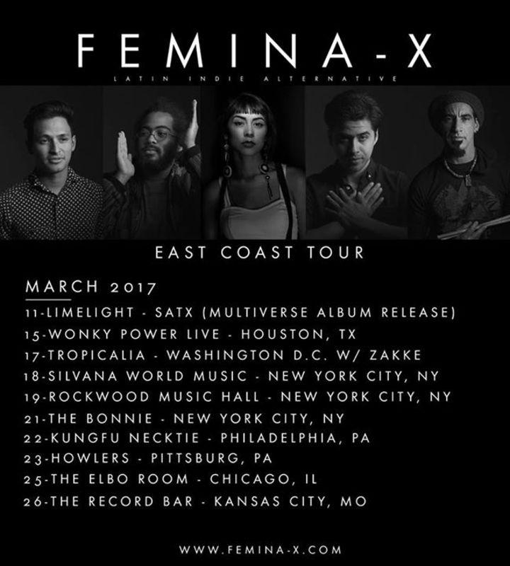Femina-X Tour Dates