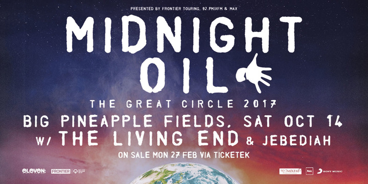 Jebediah @ Big Pineapple Fields w/Midnight Oil - Sunshine Coast, Australia