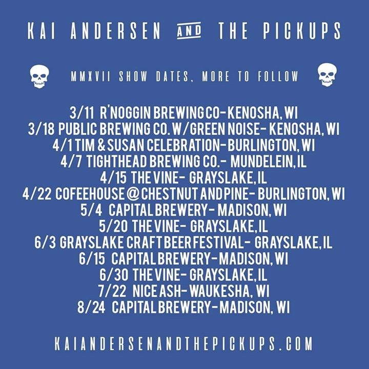 Kai Andersen & The Pickups Tour Dates