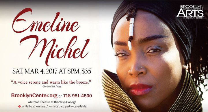 Emeline Michel @ Brooklyn Center for the Performing Arts - Brooklyn, NY