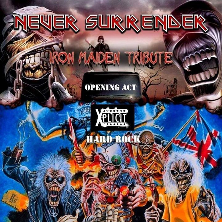 Never Surrender-Iron Maiden tribute band Tour Dates