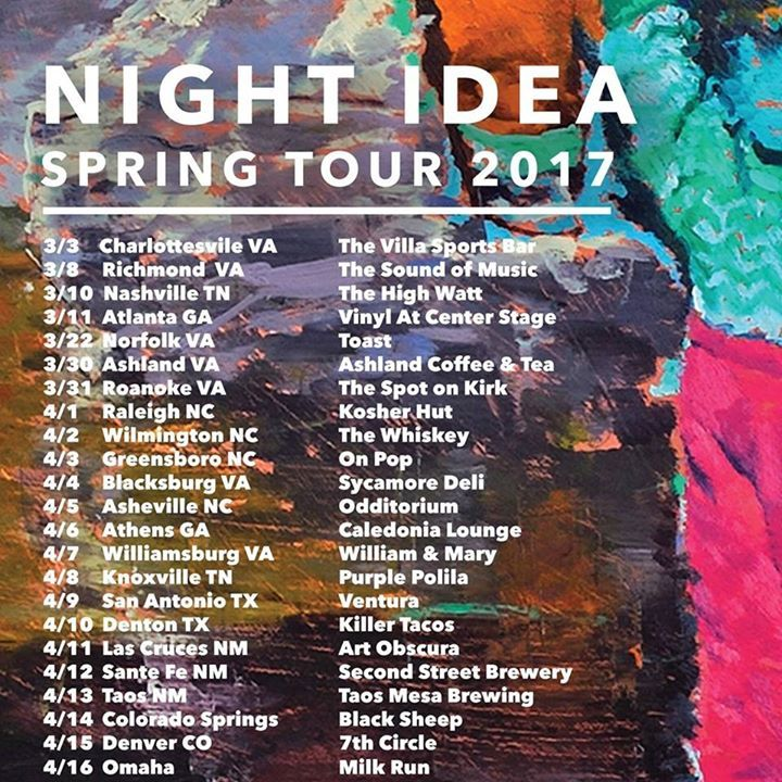 Night Idea Tour Dates