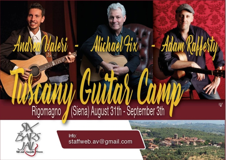 Adam Rafferty @ Tuscany Guitar Camp - Siena, Italy