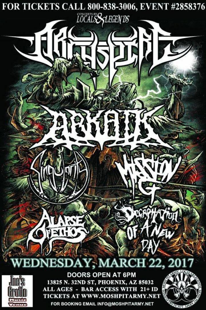 Singularity AZ Tour Dates