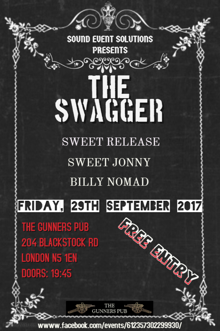 The Swagger @ The Gunners Pub - London, United Kingdom