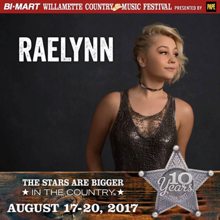 RaeLynn @ The Williamette Country Music Festival - Brownsville, OR