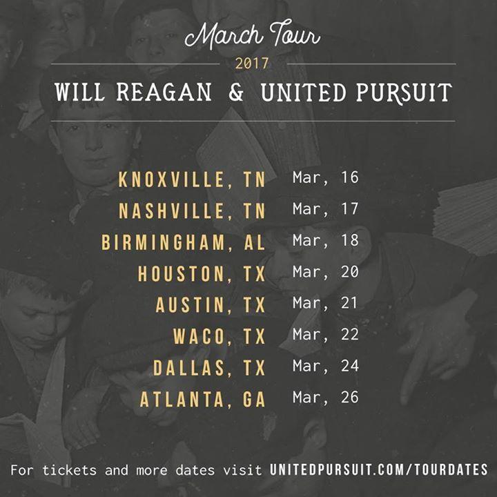 United Pursuit Tour Dates