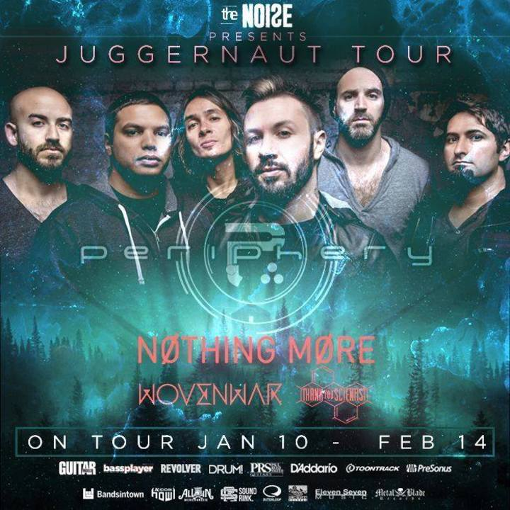 Periphery @ NV NIGHT CLUB - Knoxville, TN