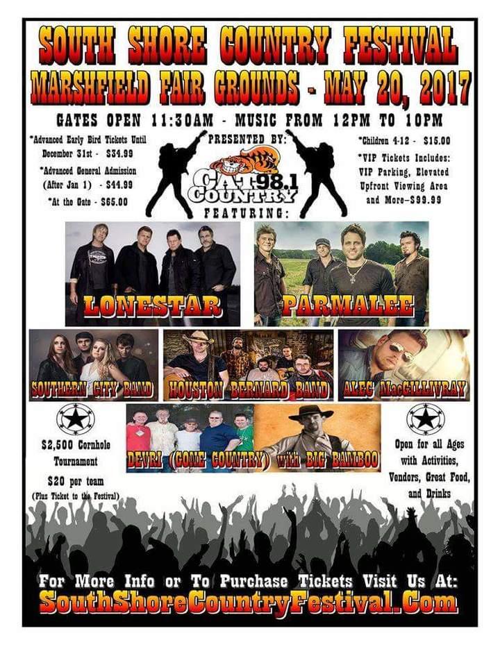 Houston Bernard Band @ Marshfield Fairgrounds - Marshfield, MA