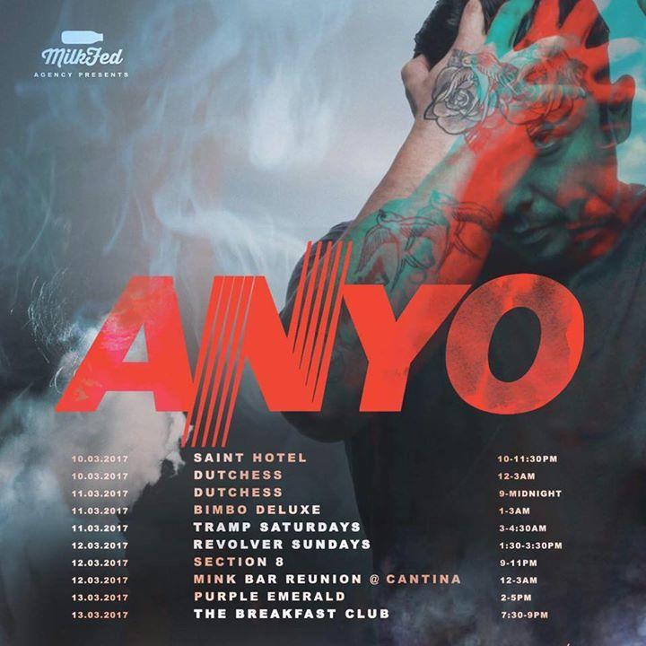 Anyo Tour Dates