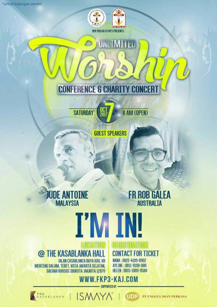 Fr Rob Galea @ Unlimited Worship Conference and Charity Concert - Jakarta, Indonesia