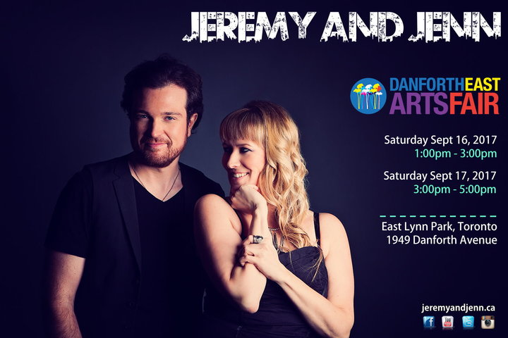 Jeremy And Jenn - An Acoustic Duo @ Danforth East Arts Fair  - Toronto, Canada