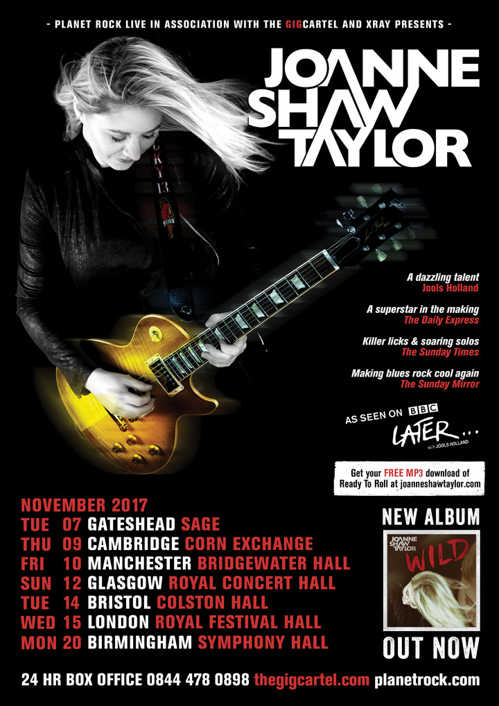 Joanne Shaw Taylor @ Bridgewater Hall - Manchester, United Kingdom