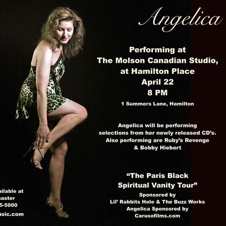 Angelica Performing At The Molson Canadian Studio At Hamilton Place Tour Dates