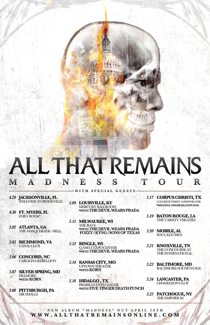 All That Remains @ Mr. Smalls - Millvale, PA