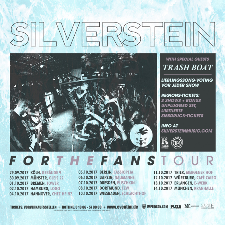Silverstein @ Puschkin - Dresden, Germany