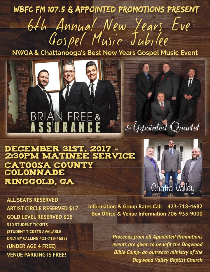 Appointed Quartet @ Colonnade Theatre - Ringgold, GA