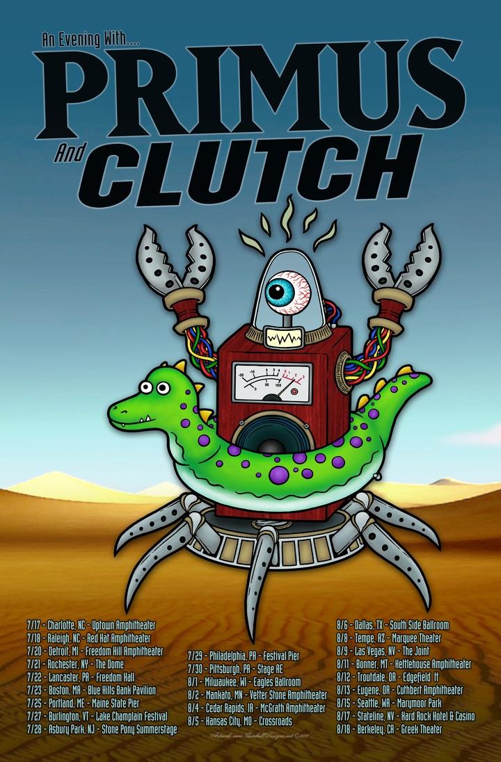 Clutch @ Cuthbert Amphitheater - Eugene, OR