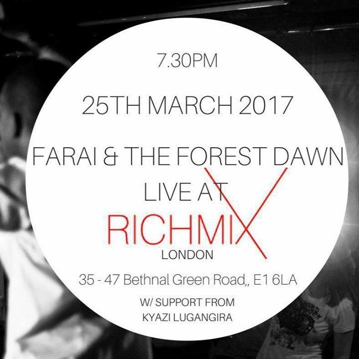 Farai & The Forest Dawn Tour Dates