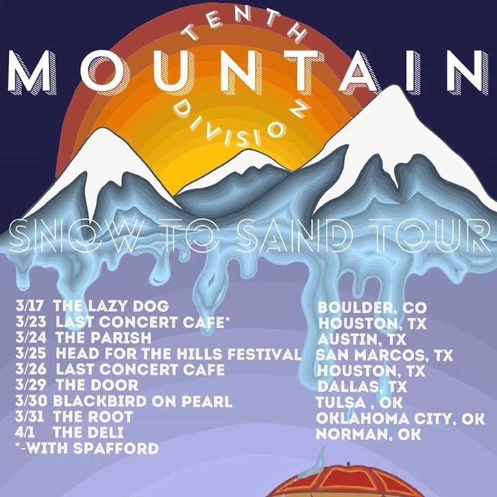 Tenth Mountain Division Tour Dates