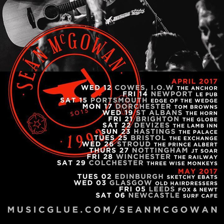 Seán McGowan Music UK Tour Dates