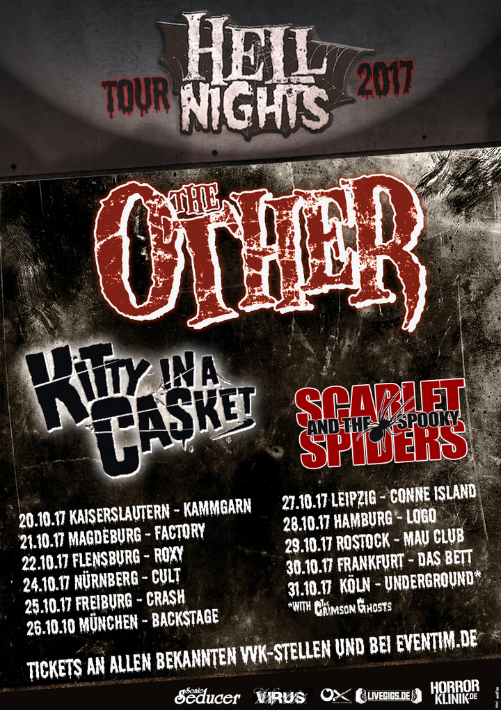 Scarlet and the Spooky Spiders @ Cult - Nurnberg, Germany