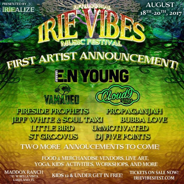 Irie Vibes Music Festival  Tour Dates