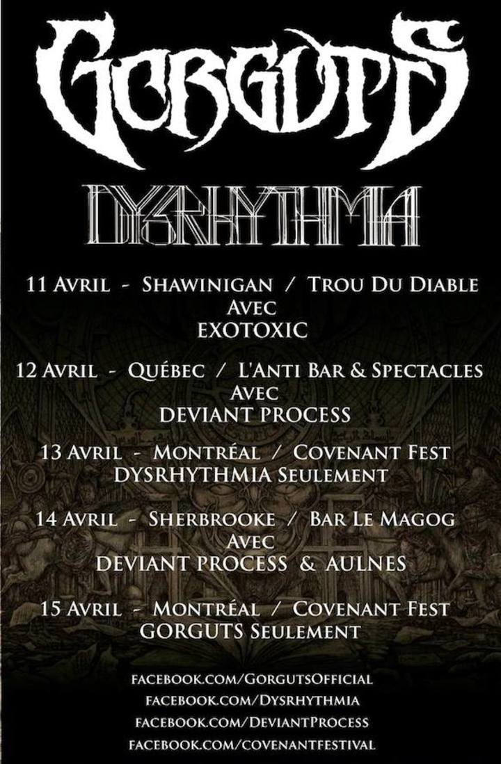 Dysrhythmia Tour Dates