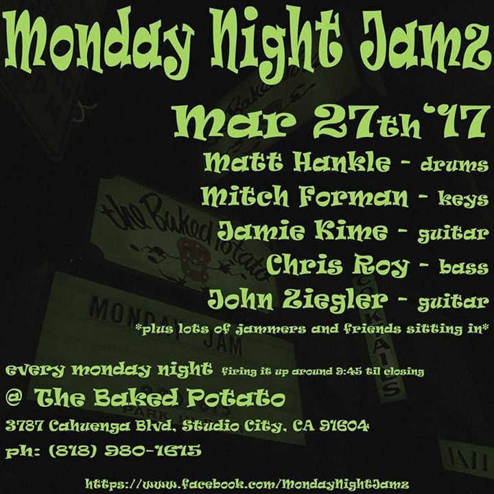 Monday Night Jamz Tour Dates