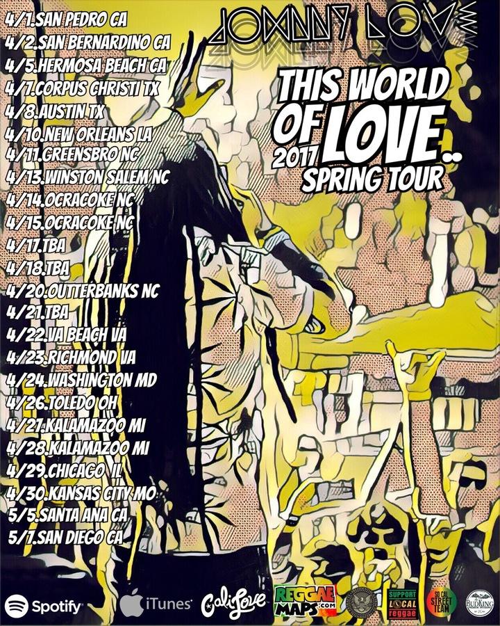 Johnny Love Tour Dates