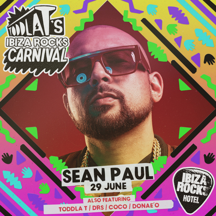 Sean Paul @ Ibiza Rocks Hotel - Sant Antoni De Portmany, Spain
