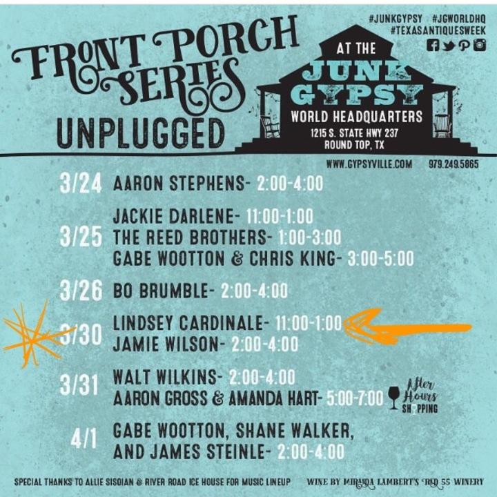 Jamie Lin Wilson @ Junk Gypsy World HQ - Round Top, TX