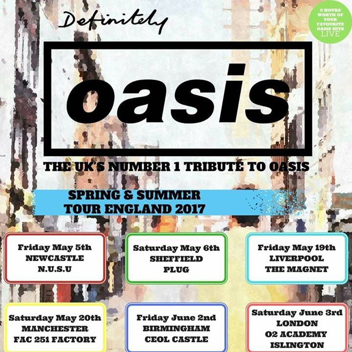 Definitely Oasis @ The Wardrobe - Leeds, United Kingdom