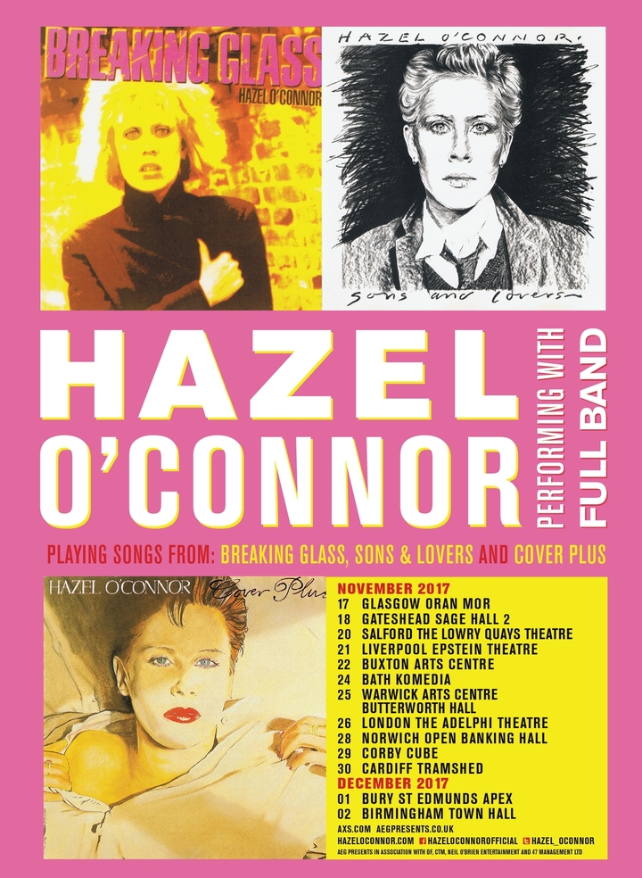 Hazel O'Connor @ Pavillion Arts Centre - Buxton, United Kingdom