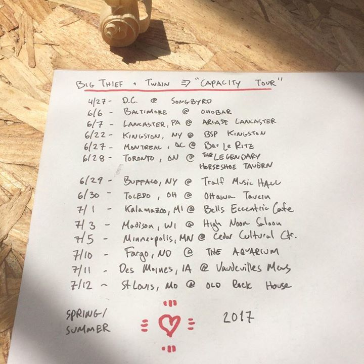 Twain Tour Dates