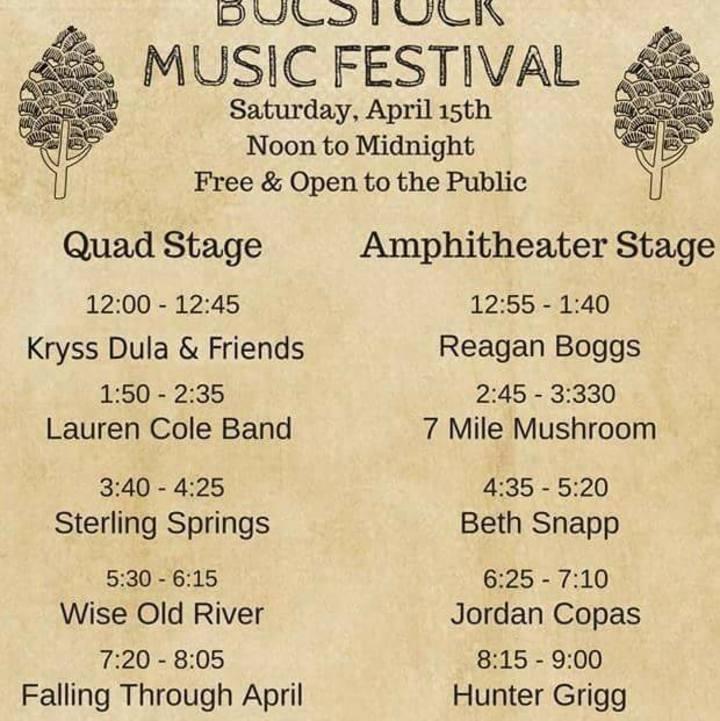 Falling Through April Tour Dates