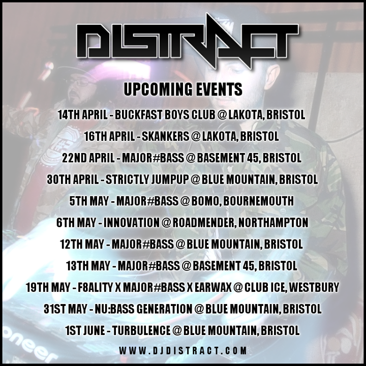 Distract Tour Dates