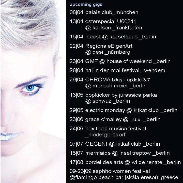 Chroma Tour Dates
