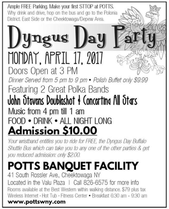 JOHN STEVENS' DOUBLESHOT @ Potts Banquet Hall - Buffalo, NY