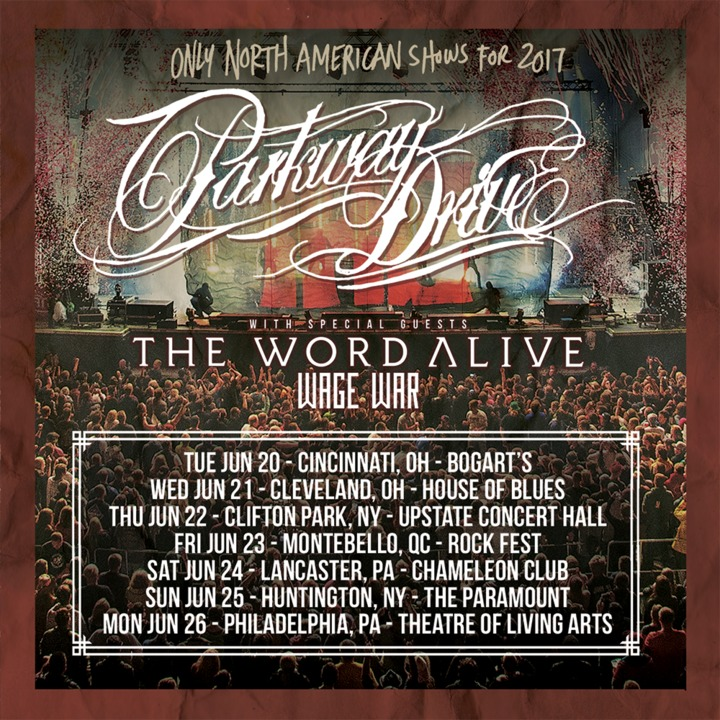 Parkway Drive @ Upstate Concert Hall - Clifton Park, NY