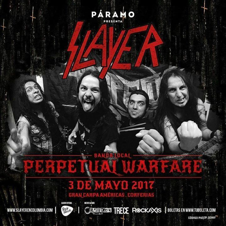 Perpetual Warfare Tour Dates
