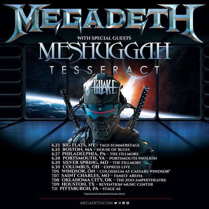 Megadeth @ Portsmouth Pavilion - Portsmouth, VA