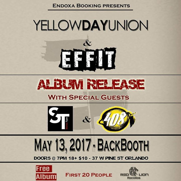 Yellow Day Union Tour Dates