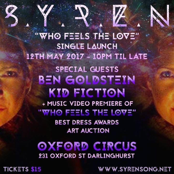 Syren Tour Dates