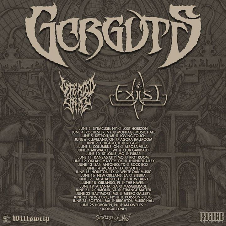 Defeated Sanity Tour Dates