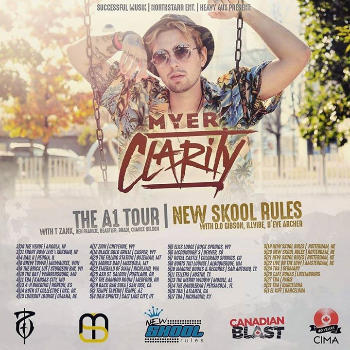 Myer Clarity Tour Dates