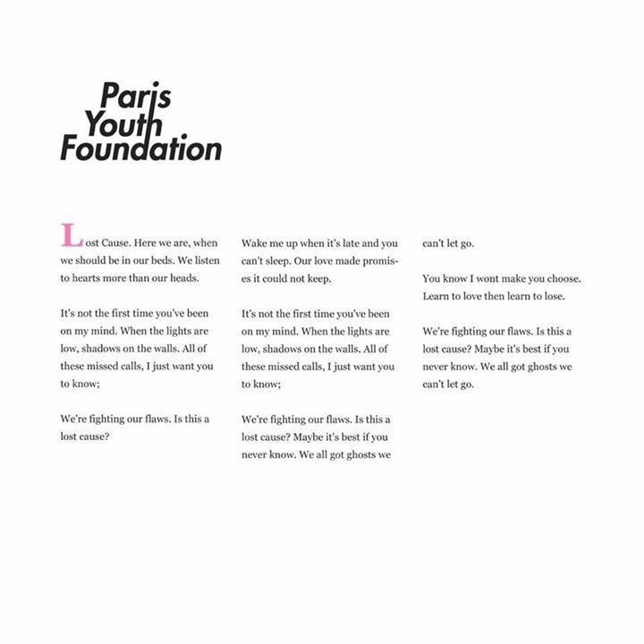 Paris Youth Foundation Tour Dates